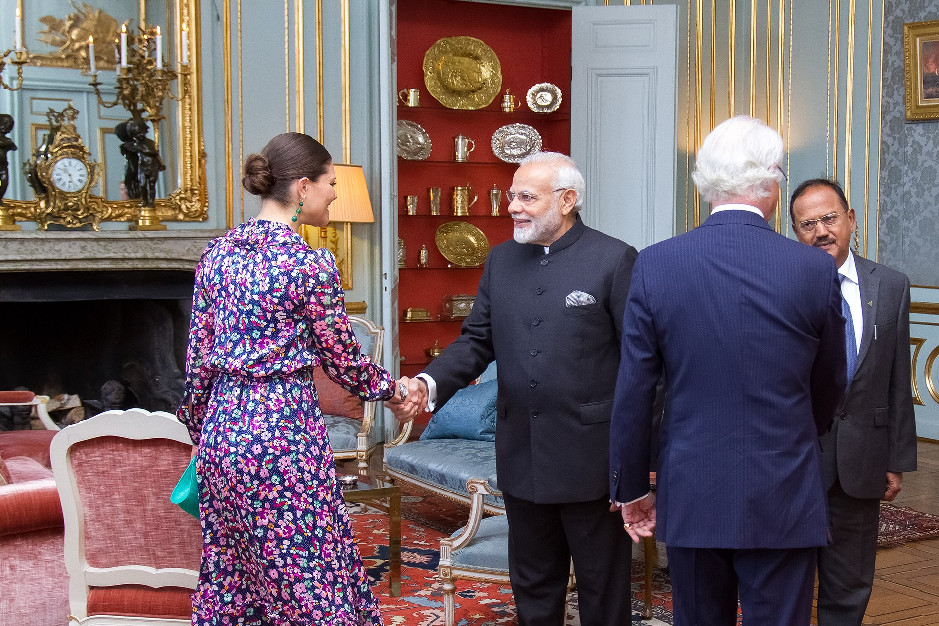 Prime Minister Narendra Modi's audience with His Majesty the King and Her Royal Highness Crown Princess Victoria.