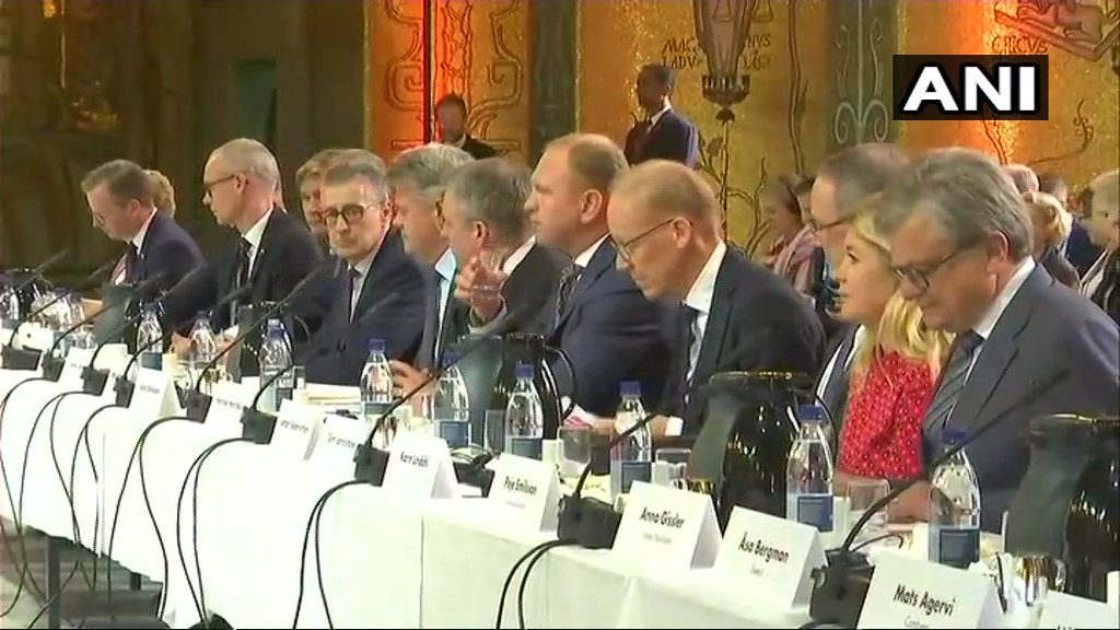 Top CEOs interact with Prime Ministers @narendramodi and Stefan Löfven.