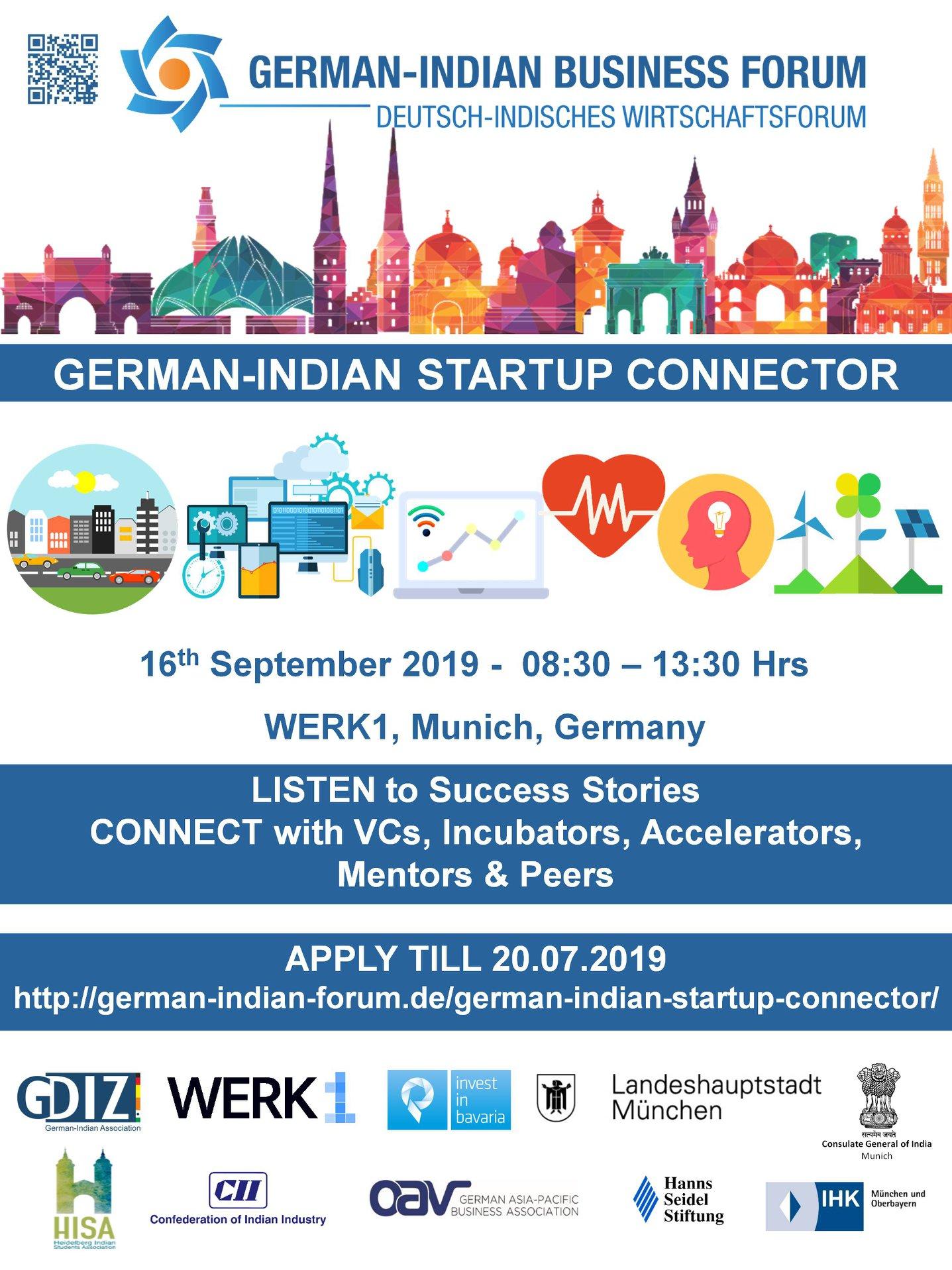 German - Indian Startup Connector 2019 Atelierstraße Munich - Search